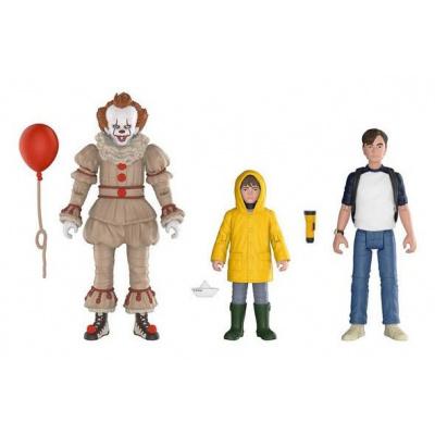 IT 2017 pack 3 figurines Set 2 : Pennywise, Bill, Georgie 10 cm