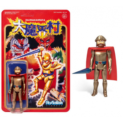 Ghost n' Goblins: Gold Arthur with Armor 3.75 inch ReAction Figure