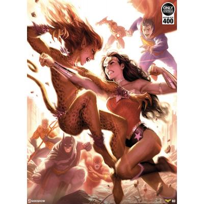 DC Comics: Justice League - Wonder Woman vs Cheetah Unframed Art Print