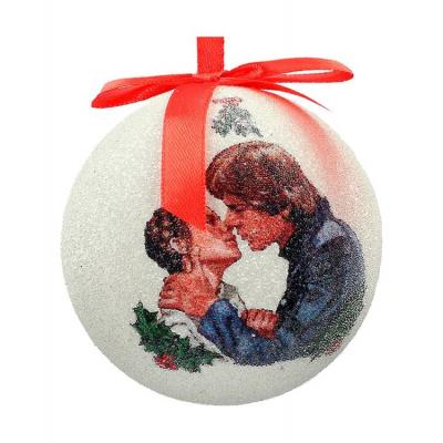 Star Wars: Han and Leia Mistletoe Christmas Ball