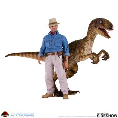 Jurassic Park: Dr. Alan and Velociraptor 1:6 Scale Figure Set