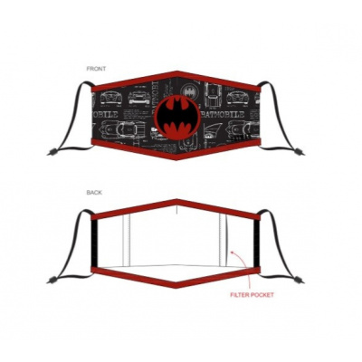 DC Comics: Batman Red Logo Adjustable Face Mask