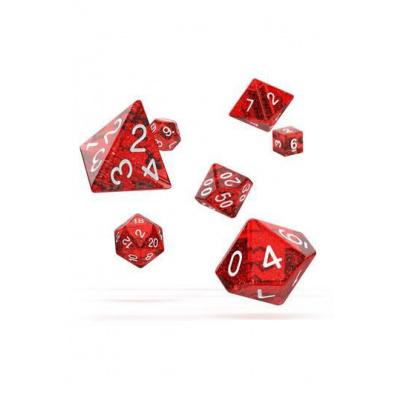 Oakie Doakie Dice RPG 7 Dice Set Speckled Red