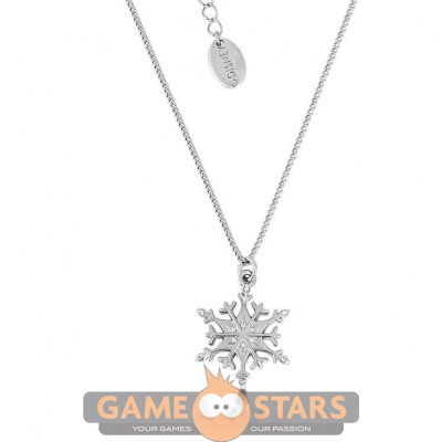 Disney Frozen Snowflake Necklace Rhodium plated with Crystal