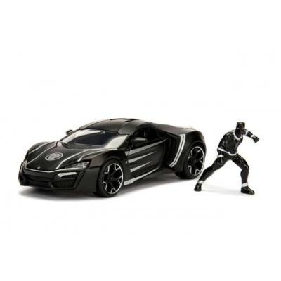 Marvel: 2017 Lykan Hypersport Black Panther including Black Panther figure Black-Silver 1:24