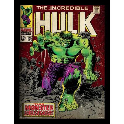 Marvel: The Incredible Hulk -Monster Unleashed 30 x 40 cm Framed Print