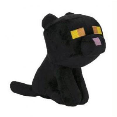 Minecraft Happy Explorer Plush Figure Black Cat 18 cm