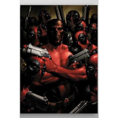 Marvel poster en métal Deadpool Gritty Wrong Neighborhood 32 x 45 cm