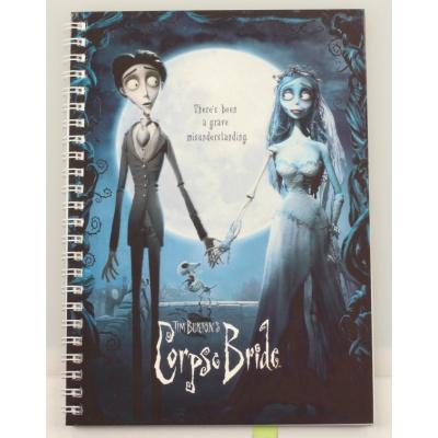 Corpse Bride: Movie Poster Spiral Notebook