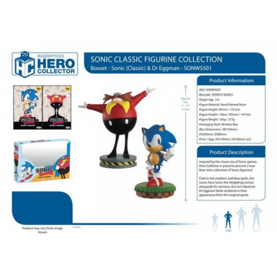 Sonic: Sonic and Dr. Eggman 1:16 Scale Figurine Box Set