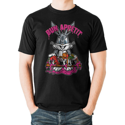 Looney Tunes - Bun Appetit - UNISEX T-SHIRT - BLACK