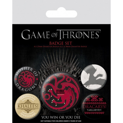 Game of Thrones: Fire and Blood Badge Pack