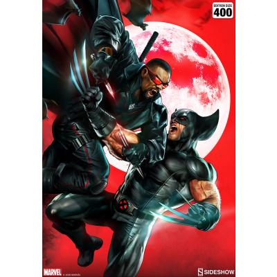Marvel: Wolverine vs. Blade Unframed Art Print