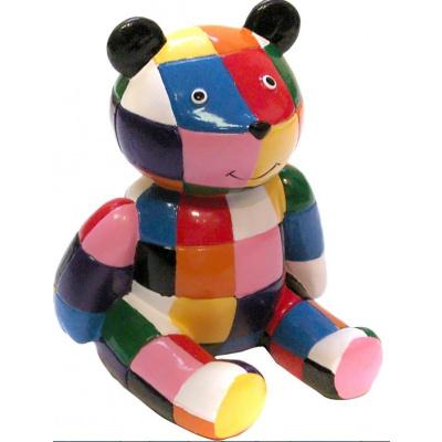 Miniature Elmer's Multicolor Teddybear 5 Cm