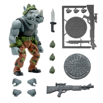 TMNT: Ultimates Wave 3 - Rocksteady 8 inch Action Figure