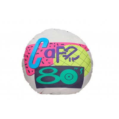 Back to the Future: Cafe 80's Round Cushion