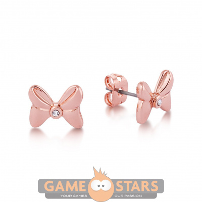 Disney Minnie Mouse Crystal Bow Studs (Rose Gold)