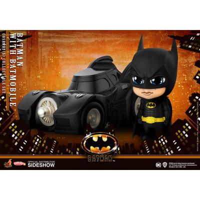 DC Comics: Batman 1989 Movie - Batman with Batmobile Cosbaby