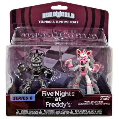 Funko Five Nights at Freddy's Hero World Series 6 Yenndo & Funtime Foxy 4-Inch Vinyl Figure 2-Pack