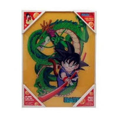 Dragon Ball: Kid Goku and Shenron Glass Poster 30 x 40 cm