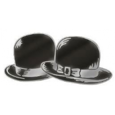Laurel et Hardy pin's Bowler Hats