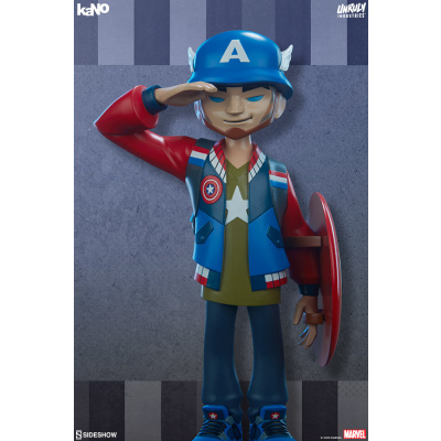 Marvel: Captain America Designer Collectible Toy by artist kaNO