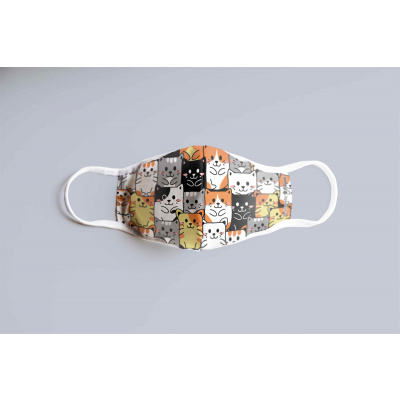 Cats Pattern Children's Face Mask