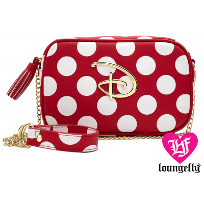 LOUNGEFLY: DISNEY RED AND WHITE POLKA DOT