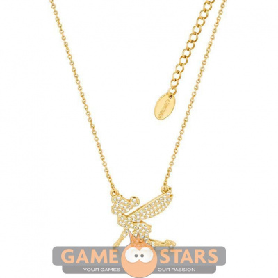 Disney Tinker Bell Crystal Necklace (Yellow Gold)