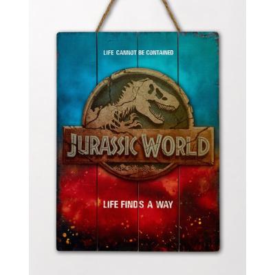 Jurassic World: Life Finds a Way Wooden Art