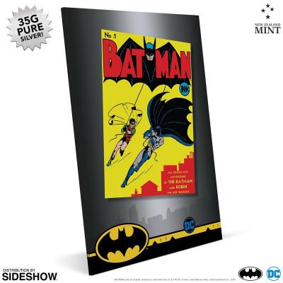 DC Comics: Batman 1st Comic Cover Silver Foil Framed Print