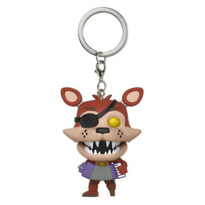 Five Nights at Freddy's Pizzeria Simulator Pocket POP Vinyl Keychain Rockstar Foxy 4 cm
