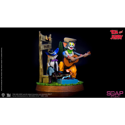 Tom and Jerry: Cowboy PVC Statue