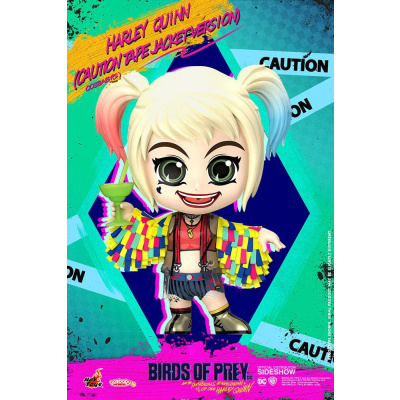 Birds of Prey figurine Cosbaby Harley Quinn (Caution Tape Jacket Version) 11 cm
