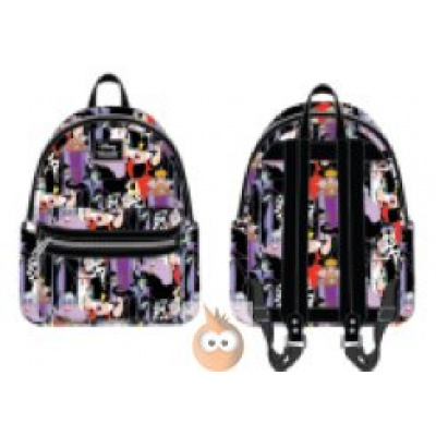 Loungefly Villains AOP Mini Faux Leather BackPack