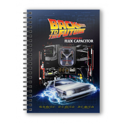 Back to the Future: Powered by Flux Capacitor Spiral Notebook