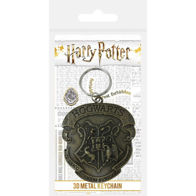 Harry Potter Hogwarts Crest Metal Keyring