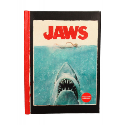 Jaws: A5 Notebook with Light