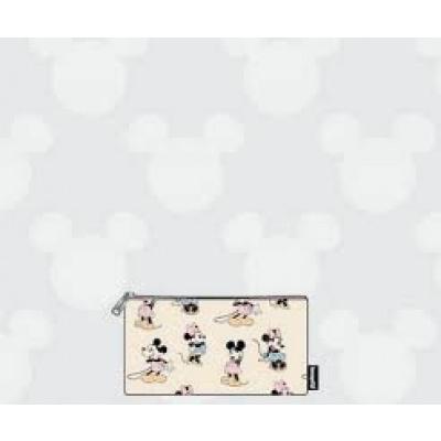 DISNEY - Pastel Minnie Mickey Nylon Pouch 'LoungeFly'
