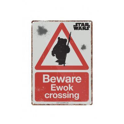 Star Wars Tin Sign Ewok 21 x 15 cm