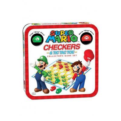 Super Mario Combo Checkers/Tic Tac Toe (Tin) - EN