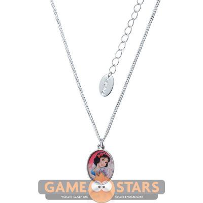 Kids Disney Princess Snow White Necklace (White Gold)