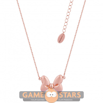 Disney Minnie Rose Gold-Plated Bow Ball Chain Necklace
