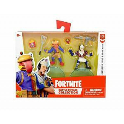 Details about Fortnite Epic Games Mini Figure Duo Pack:Beef Boss & Grill Sergeant - NEW