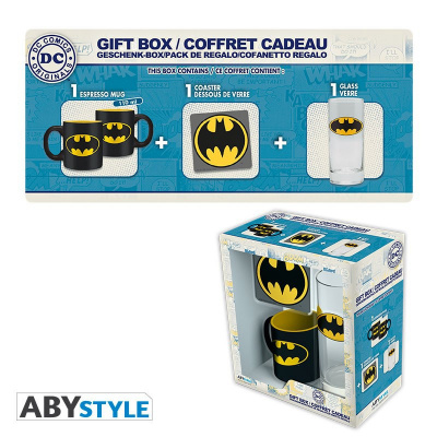 DC COMICS - Gift Box Batman (Glass+ Coaster+ Mini-Mug)