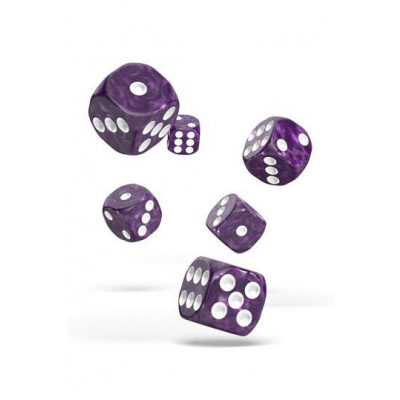 Oakie Doakie Dice dés D6 16 mm Marble - Violet