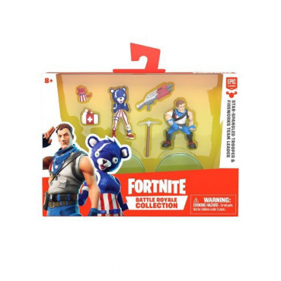 Fortnite Battle Royale Collection Action Figure 2pk - Star-Spangled Trooper & Fireworks Team Leader