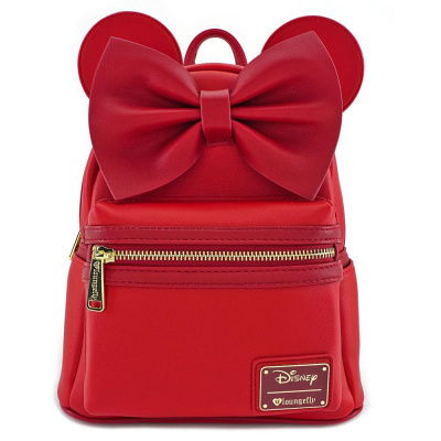 Disney by Loungefly Backpack Red Minnie Ears & Bow Red