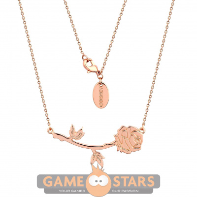 Disney Beauty and the Beast Rose Necklace (Rose Gold)