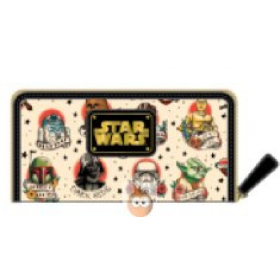 Loungefly Tattoo Characters AOP Zip Around Wallet (Star Wars)